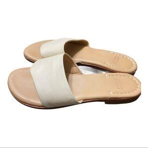 Johnston & Murphy Cream Leather Sandal